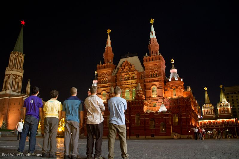 Checking out red square
