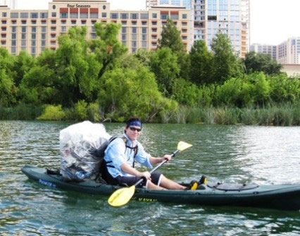 Kayaker-with-Trash-Bag