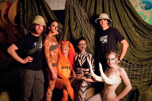 Trip & Andy + portland models & elephant activists