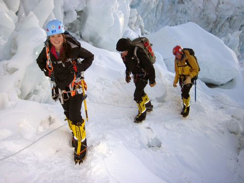 Sara-dave-hahn-everest-training-icefall